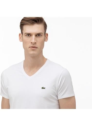 Lacoste Erkek  Tişört TH0999.001 Beyaz